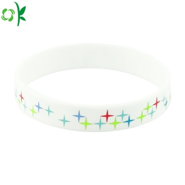 High Quality Printed Logo Silicone Bracelet for Sale