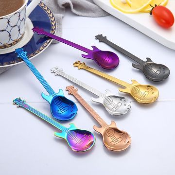 Creative Stainless Steel Colorful Guitar Spoon