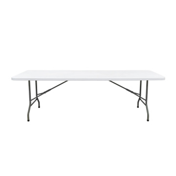 Outdoor Portable White Plastic 8FT Folding Table