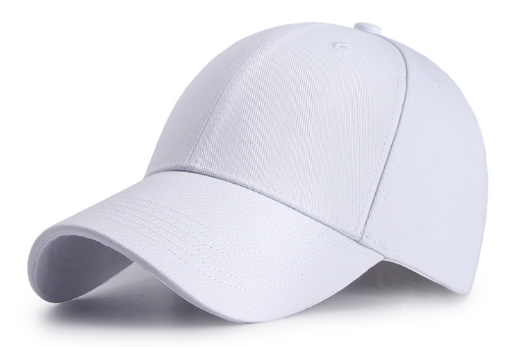Cotton Twill Plain Cap White