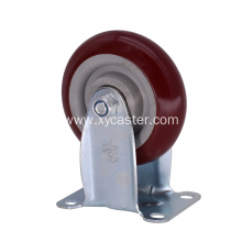 4 Inch PVC Red Medium Caster Wheel