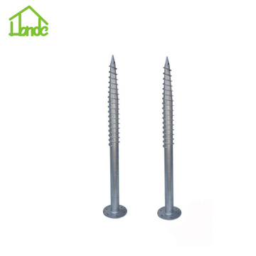 Wooden house ground screw anchor