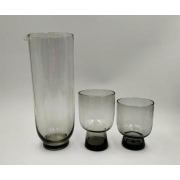 grey color glass pitcher small wine glass cup