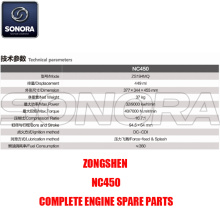 ZONGSHEN NC450 Engine (P/N:ST04100-0003) Top Quality