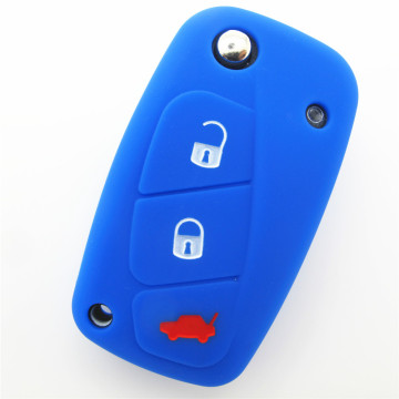 Silicone rubber key fob jackets for fiat