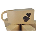 PVC Window Handle Customized Kraft Paper Bag