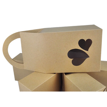 Marvelous Heart Shape Handle Design Kraft Paper Bag