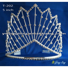 8 Inch Fashion Crystal Crowns