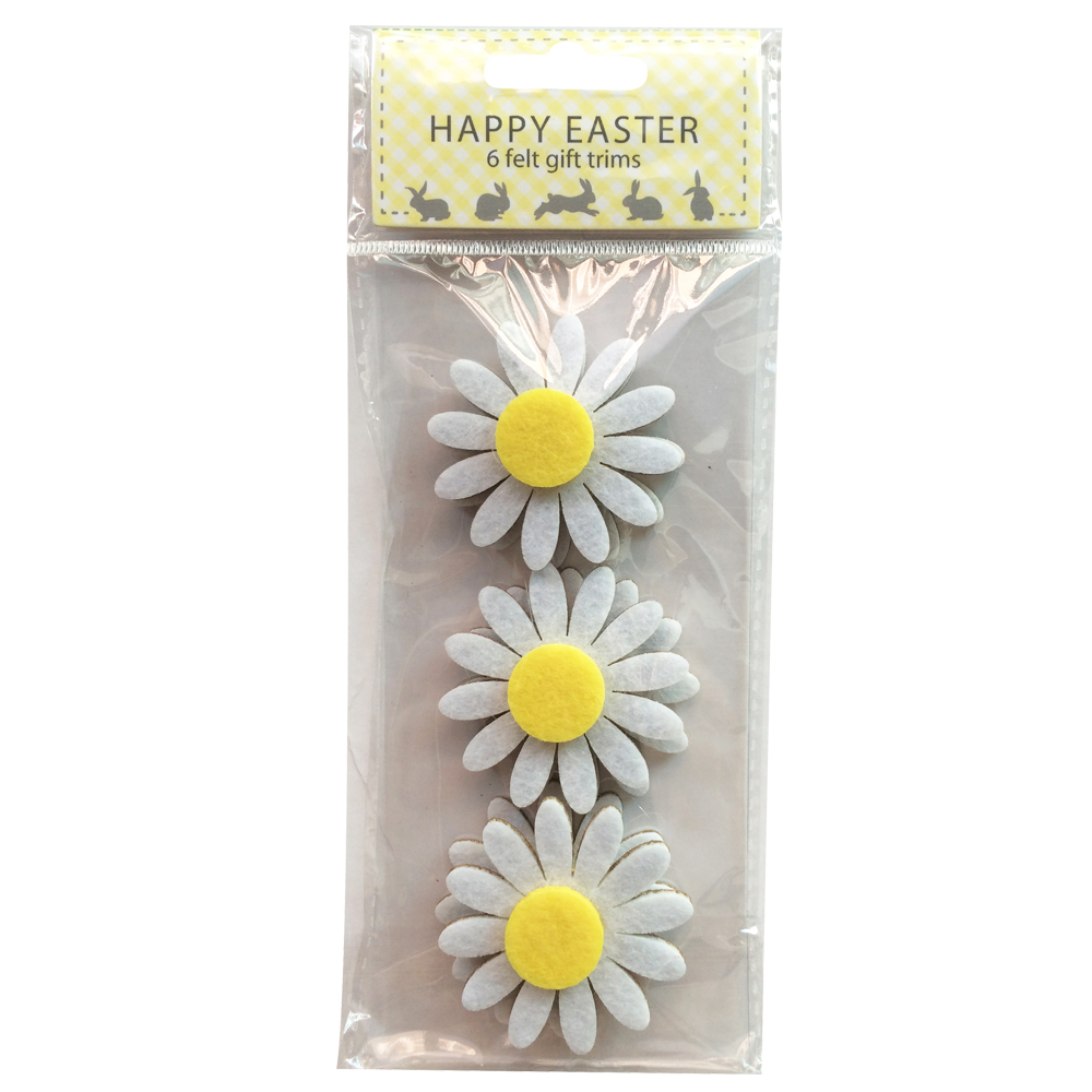 Daisy Pattern Easter Sticker