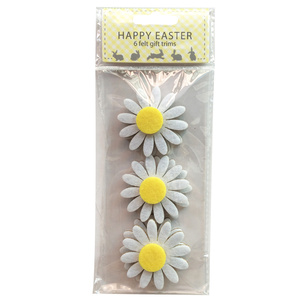 Easter daisy pattern sticker