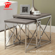 China for China Side Table,Small Side Table,White Side Table Supplier Metal Frame and Wood Top Coffee Table Set export to Indonesia Supplier