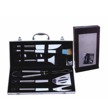 8pcs stainless steel BBQ tool set