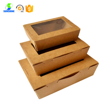 High quality kraft window paper box