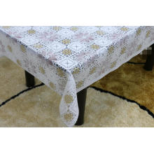 Printed pvc lace tablecloth by roll runner