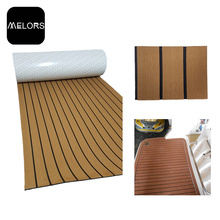 China Gold Supplier for Faux Teak Strip Melors Flooring EVA Strong Adhesive Marine Decking supply to Portugal Factory