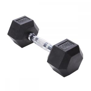 10KG Hex Rubber coated Dumbbell