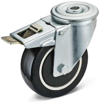 13-series PU Bolt Hole Movable Total Brake Casters