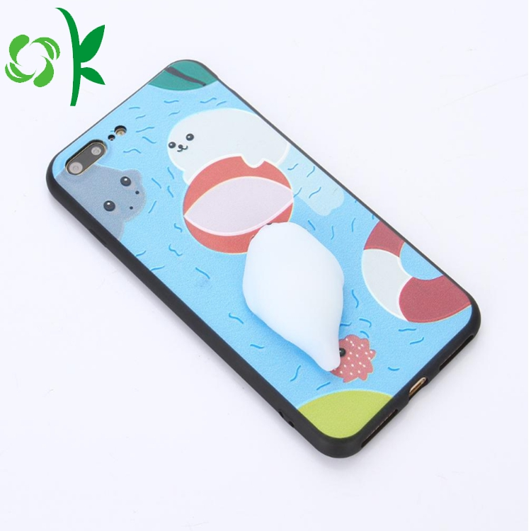 Phone Case With Silicone Reduce Stress Animal