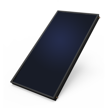 Solar collector of flat panel for hot water