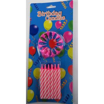 0.5*10cm spiral birthday cake candle