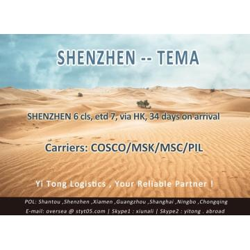 Shenzhen Sea Freight to Tema
