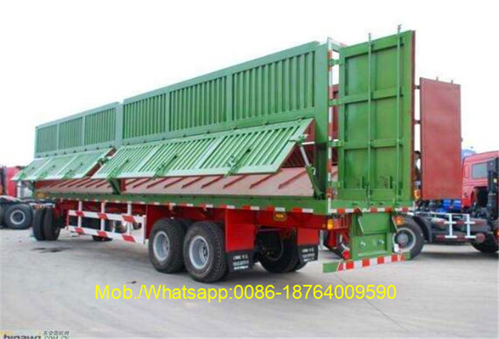 Tri Axles 40 Ton Side Dump Truck Trailer