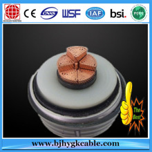 400mm2 CU/XLPE/CAS/PVC Copper Corrugated sheath XLPE cable 132kV Power Cable-Underground cable