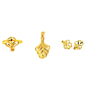 Golden Leaf Jewelry Set
