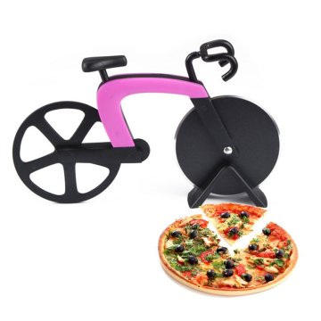 Stainless Steel Bicycle Pizza Cutter Cooking Tools