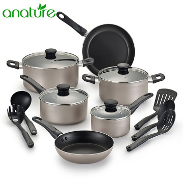 Prestige Aluminum Nonstick 15pcs Cookware Sets