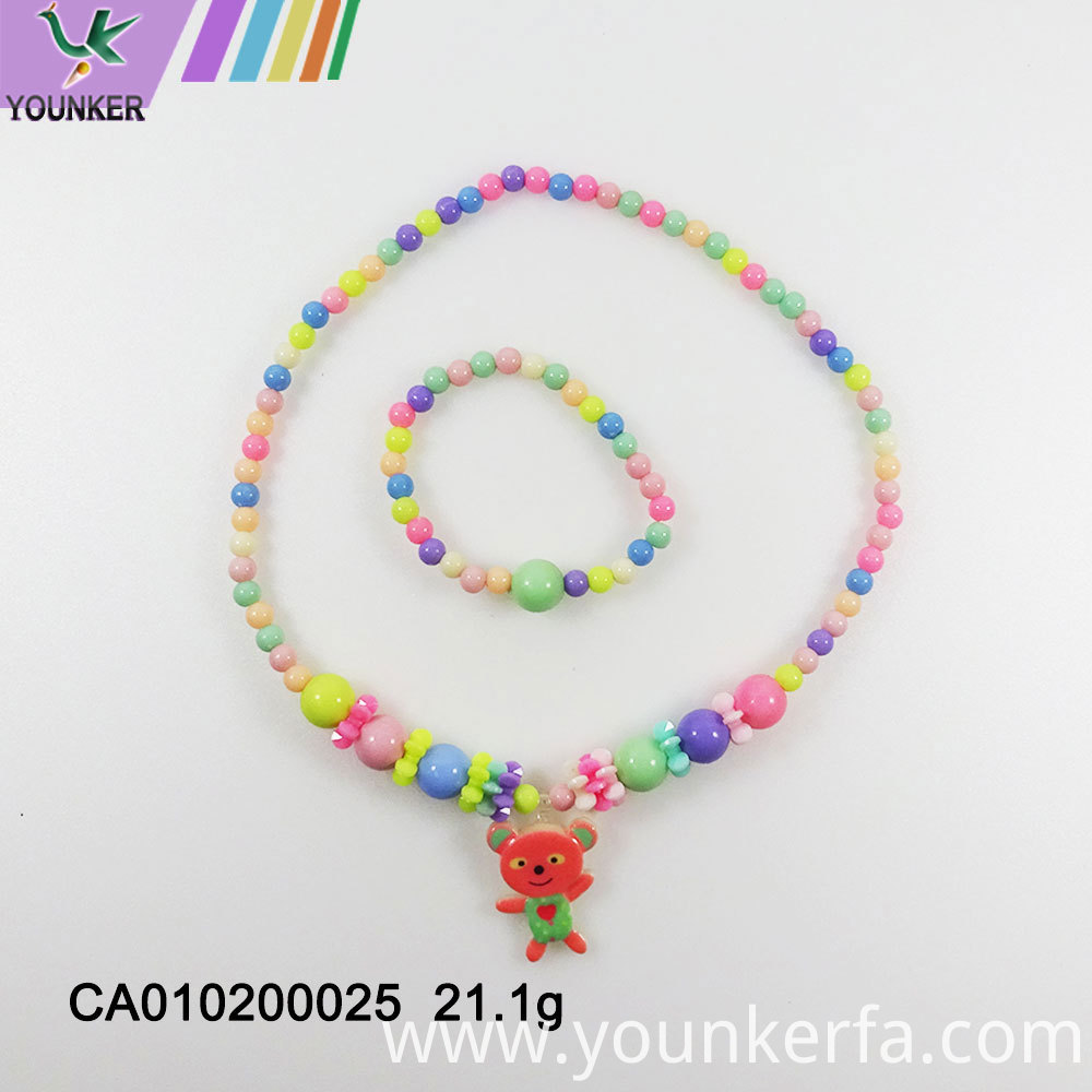 Plastic Resin Necklace