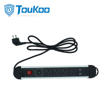 Europe style for Receptacle Extension With Usb Australia 4 way power strip with USB Socket export to South Korea Factories