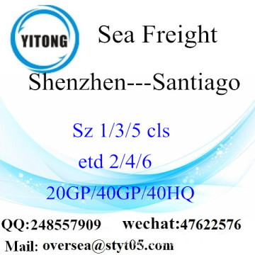 Shenzhen Port Sea Freight Shipping To Santiago