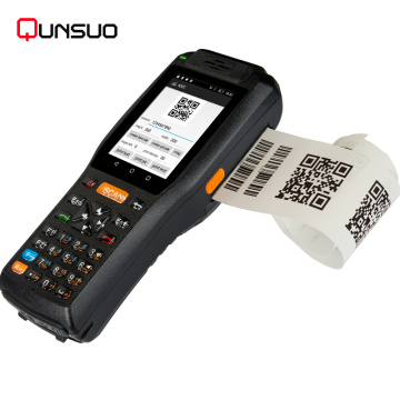 mobile industrial data temrinal android pda with printer