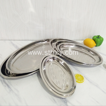 High Quality Stainless Steel Oval Shape Service Plate