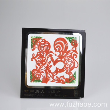 Paper-cut scroll Chinese paper-cut blessing craft gift