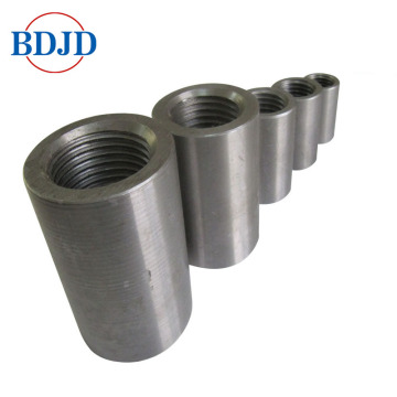 steel material parallel threaded rebar couplers