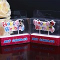 Paraffin Wax cartoon happy birthday candle for cake