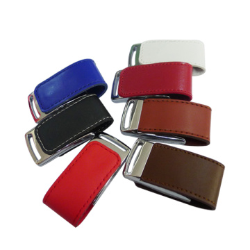 Gift 4gb Pen drive Leather Flash USB Drive