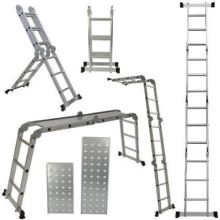 Customized for China Aluminum Multifunction Ladder,Multipurpose Ladder With Hinges Supplier Aluminium step with work bench supply to Dominican Republic Factories
