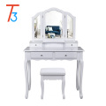 kids dressing table with mirror and stool color according to customer requirements
