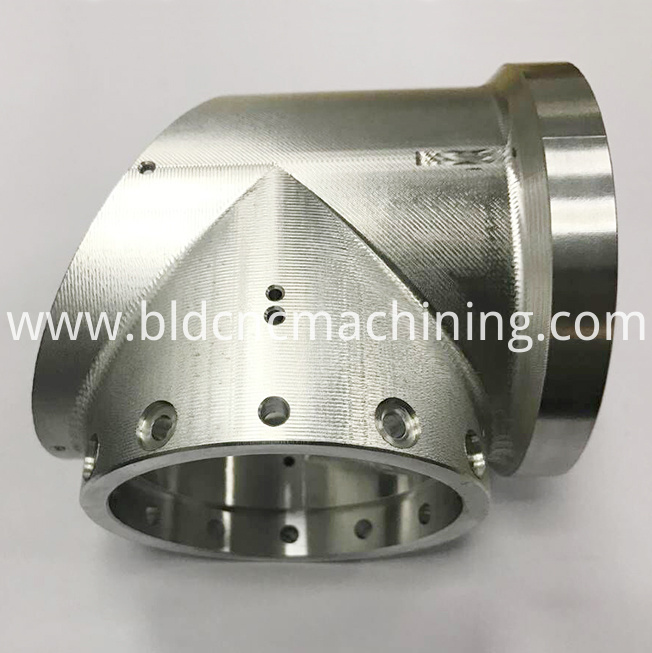 machined aluminum tee joint