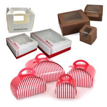 Custom food packaging carton handle wholesale donut box