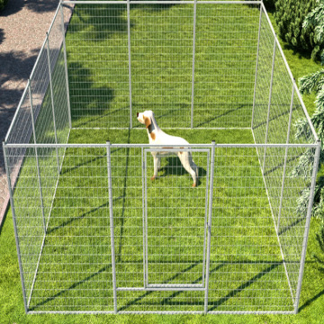 Large Outdoor Galvanized Strong Steel Dog Kennel