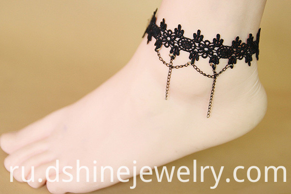 Black Lace Anklet