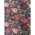 Ethnic Flower Polyester Bubble Chiffon Printing Fabric