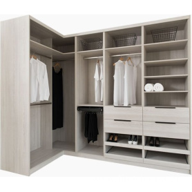 luxury wooden walk in closet furniture