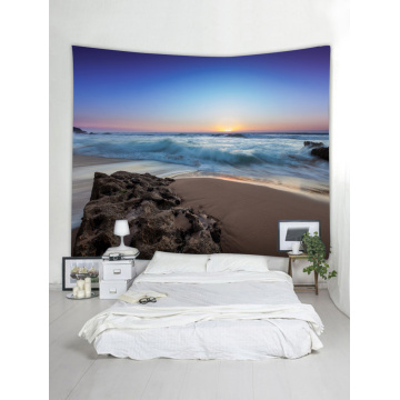 Tapestry Wall Hanging Ocean Sea Wave Beach Series Tapestry Sunrise Sunset Reef Tapestry for Bedroom Home Dorm Decor