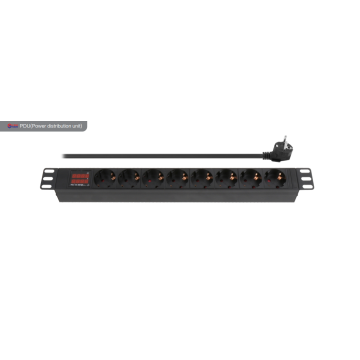 Hot sale for Pdu (Power Distribution Unit) 8 Way European PDU with display supply to Spain Suppliers