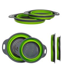 Collapsible folding Colanders with Handles
